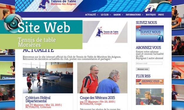 Site Web-Tennis de Table